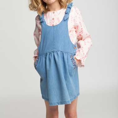 Robe salopette en denim CARREMENT BEAU pour FILLE