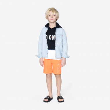 Mules aspect lisse KARL LAGERFELD KIDS pour GARCON