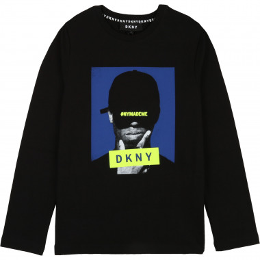 TEE-SHIRT MANCHES LONGUES DKNY pour GARCON