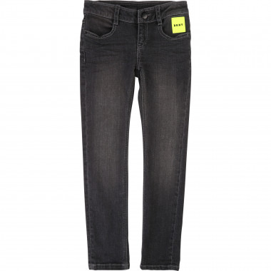 Pantalon denim ajustable DKNY pour FILLE
