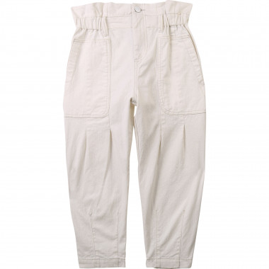 Pantalon large en drill coton DKNY pour FILLE