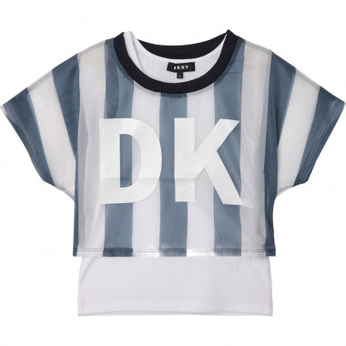 T-shirt + top 2-en-1 DKNY pour FILLE