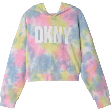 Sweat à capuche multicolore DKNY pour FILLE