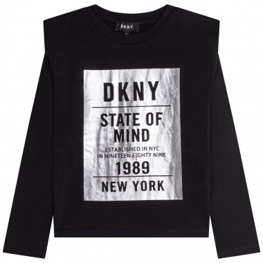 TEE-SHIRT MANCHES LONGUES DKNY pour FILLE