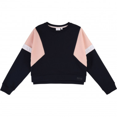 Sweat-shirt en jersey coton BOSS pour FILLE