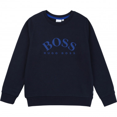 Sweat en molleton logo relief BOSS pour GARCON