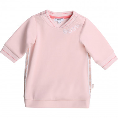 Robe sweat interlock de coton BOSS pour FILLE