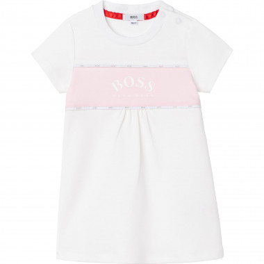 Robe en interlock de coton BOSS pour FILLE