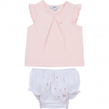 Ensemble T-shirt et bloomer BOSS pour FILLE