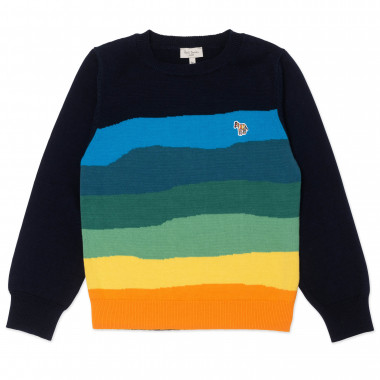 Pull en maille rayée PAUL SMITH pour GARCON