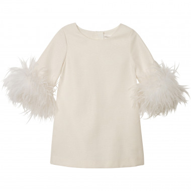 Robe droite à manches plumes CHARABIA pour FILLE