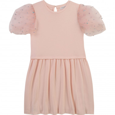 Robe avec manches tulle perlé CHARABIA pour FILLE