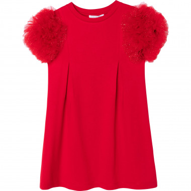 Robe avec manches pompons CHARABIA pour FILLE