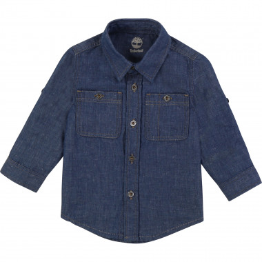 Chemise manches longues coton TIMBERLAND pour GARCON