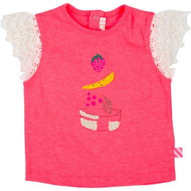 T-shirt en coton illustration BILLIEBLUSH pour FILLE