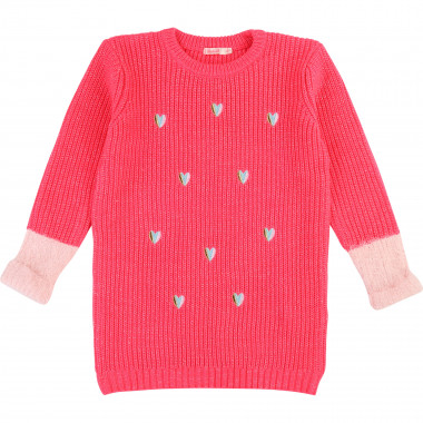 Robe tricot broderie coeurs BILLIEBLUSH pour FILLE