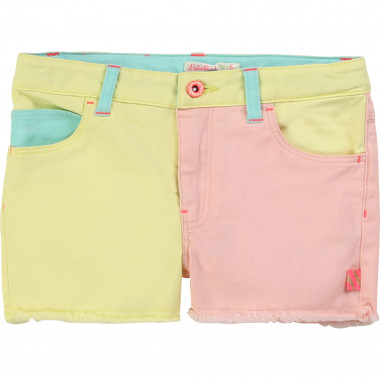 Short multicolore en twill BILLIEBLUSH pour FILLE