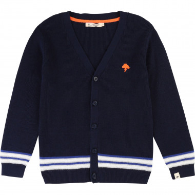 Cardigan tricot avec rayures BILLYBANDIT pour GARCON