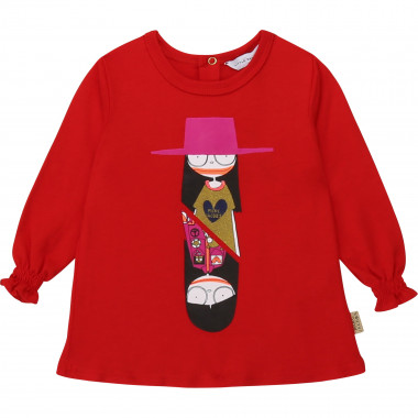 T-shirt en coton et modal LITTLE MARC JACOBS pour FILLE