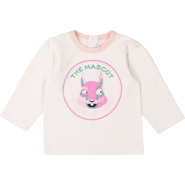 T-shirt pailleté 100% coton THE MARC JACOBS pour FILLE