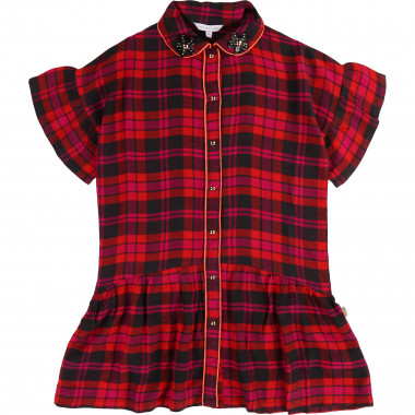 Robe à carreaux en flanelle LITTLE MARC JACOBS pour FILLE
