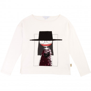 T-shirt coton et modal sequins THE MARC JACOBS pour FILLE