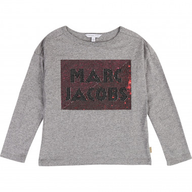 T-shirt à sequins multicolores LITTLE MARC JACOBS pour FILLE