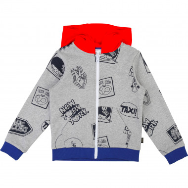 Cardigan jogging coton LITTLE MARC JACOBS pour GARCON