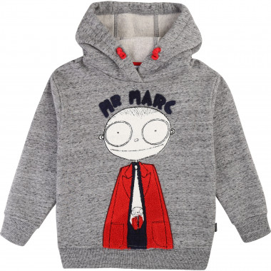 Sweat-shirt molleton à capuche LITTLE MARC JACOBS pour GARCON