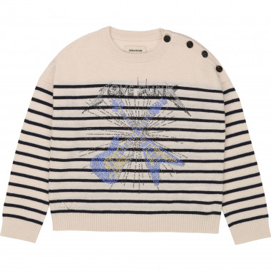 Pull marin en tricot ZADIG & VOLTAIRE pour FILLE