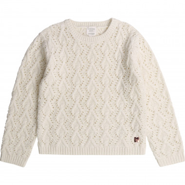 Pull tricot point fantaisie CARREMENT BEAU pour FILLE