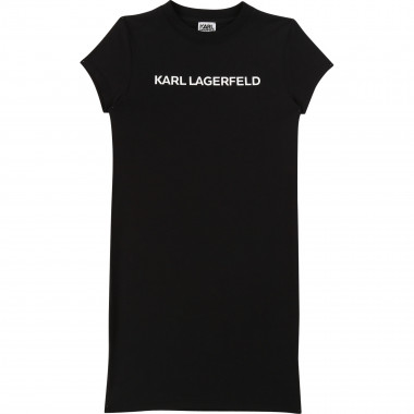 Robe T-shirt à manches courtes KARL LAGERFELD KIDS pour FILLE