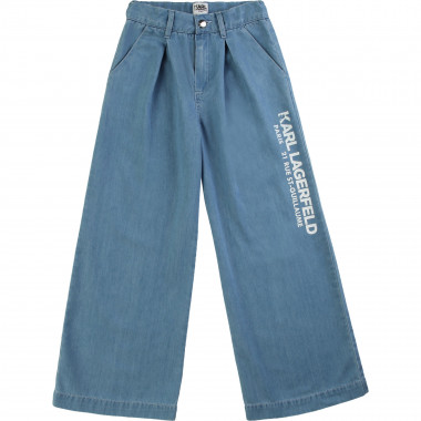 Pantalon ample en denim KARL LAGERFELD KIDS pour FILLE