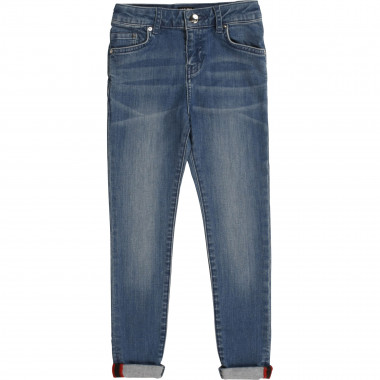 Pantalon en denim slim KARL LAGERFELD KIDS pour FILLE