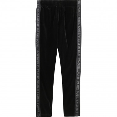 Legging en velours extensible KARL LAGERFELD KIDS pour FILLE
