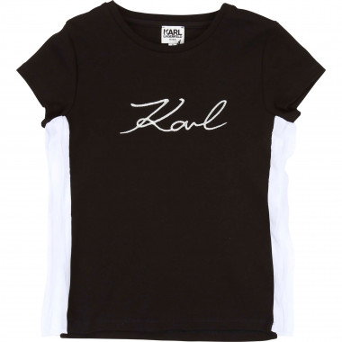 T-shirt en interlock KARL LAGERFELD KIDS pour FILLE