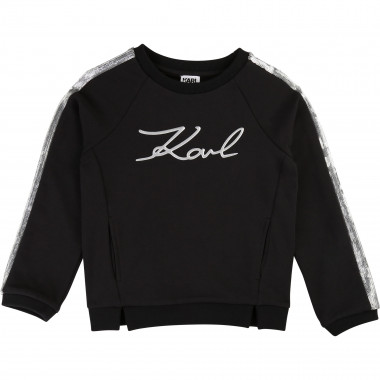 Sweat en molleton KARL LAGERFELD KIDS pour FILLE