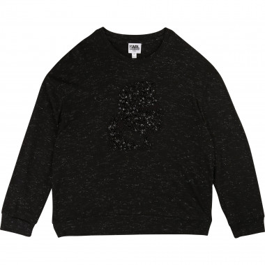 T-shirt broderie Kaméo KARL LAGERFELD KIDS pour FILLE