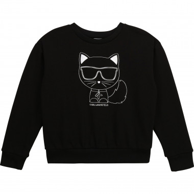Sweat fantaisie Choupette KARL LAGERFELD KIDS pour FILLE