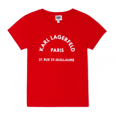 TEE-SHIRT MANCHES COURTES KARL LAGERFELD KIDS pour FILLE