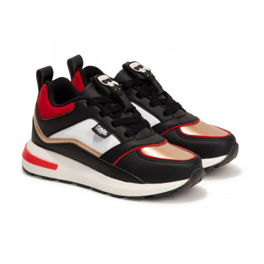 Sneakers basses à lacets KARL LAGERFELD KIDS pour FILLE