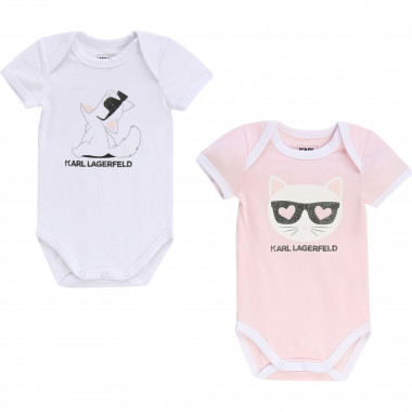 Lot de 2 bodies illustrés KARL LAGERFELD KIDS pour UNISEXE