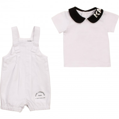 Ensemble salopette T-shirt KARL LAGERFELD KIDS pour FILLE