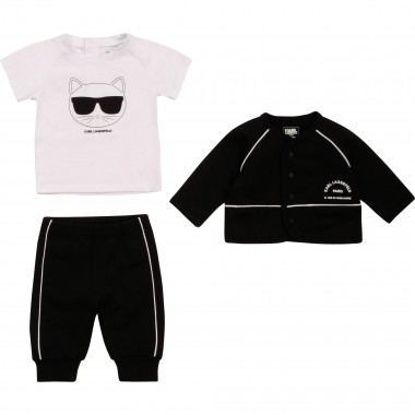 Ensemble jogging en coton KARL LAGERFELD KIDS pour FILLE
