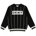 Pull tricot rayé DKNY pour GARCON