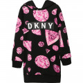 Robe sweat à capuche DKNY pour FILLE