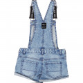 Salopette short en denim DKNY pour FILLE