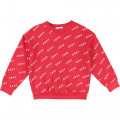 Sweat molleton logo all over DKNY pour FILLE