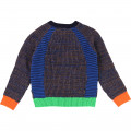 Pull tricot points fantaisies BILLYBANDIT pour GARCON