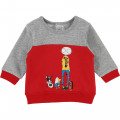 Sweat-shirt molleton bicolore LITTLE MARC JACOBS pour GARCON